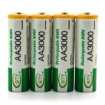 Battery Rechargeable BTY AA 4pcs 3000mAh