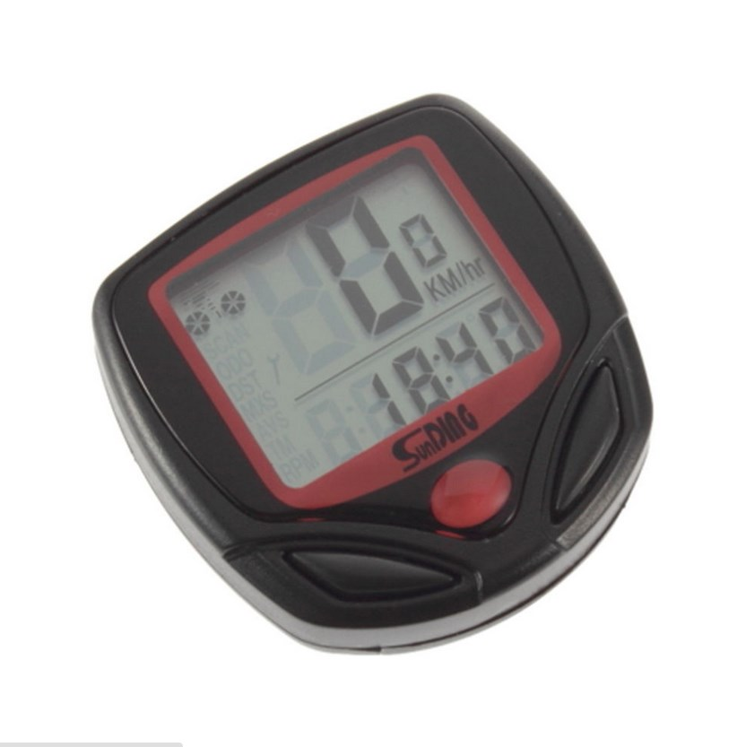 Bike Cycling Computer LCD Odometer Speedometer Stopwatch Sepeda 2