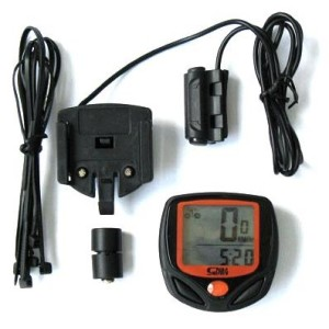 Bike Cycling Computer LCD Odometer Speedometer Stopwatch Sepeda