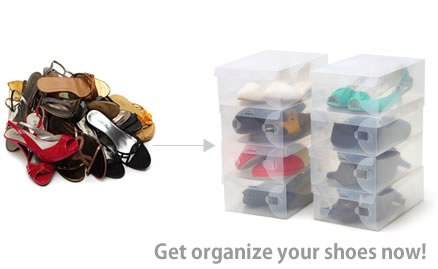 Shoes Box Transparent Murah