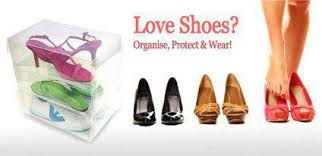 jual Shoes Box Transparent