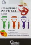 2pcs ceramic knife set ox 928
