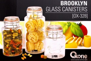 brooklyn glass canister ox 328