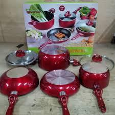 cookware set rosemery merah