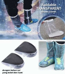 foldable and transparent shoes cover