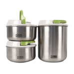 3pcs vacum stainless jar ox 306