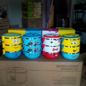 lunch box karakter 3 susun motif