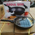 seoul wok pan korean made nonstick die cast alumunium 32cm