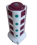 vertikal smart socket tower stop kontak 4 tingkat 2 usb 2.1A voltmeter