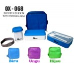 bento block with thermal bag ox 068