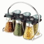 6pcs jar spice rack set oxone 324