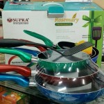 rainbow fryerpan supra set spatula nylon/ panci warna warni